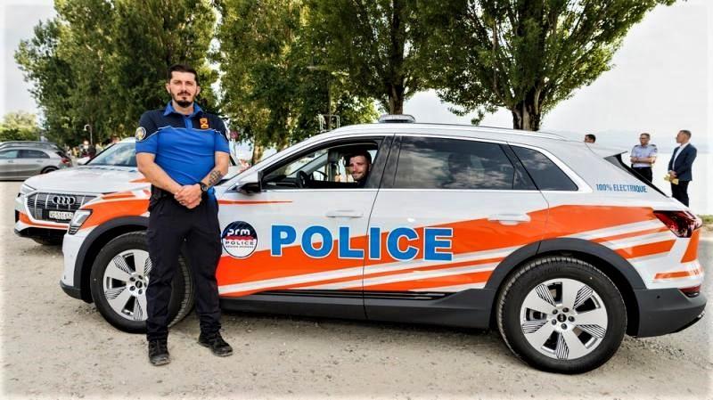 Audi e-tron 55 police de Morges